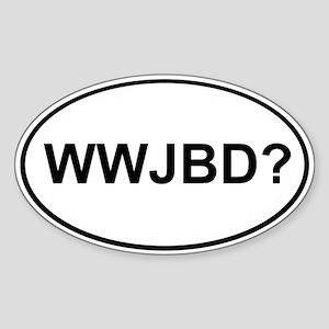 WWJBD Oval Sticker