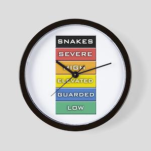 Snakes on a Plane Terror Alert Wall Clock