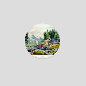Gold mining in California - 1871 Mini Button