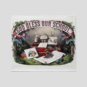 God bless our school - 1874 Throw Blanket