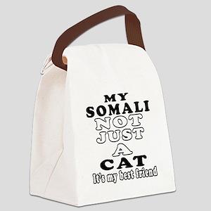 Somali Cat Designs Canvas Lunch Bag