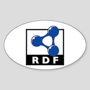 RDF Oval Sticker