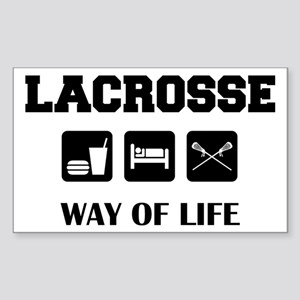 Eat Sleep Lacrosse Rectangle Sticker