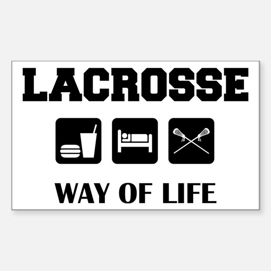 Eat Sleep Lacrosse Rectangle Decal