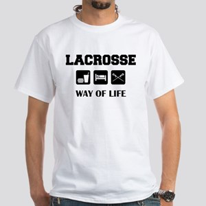 Eat Sleep Lacrosse White T-Shirt
