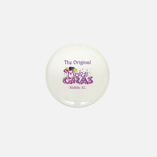 Funny Mardi gras men Mini Button