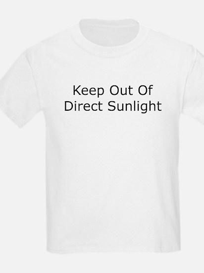 Keep Out of Direct Sunlight Kids T-Shirt