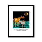 Eclipse Cartoon 9525 Framed Panel Print