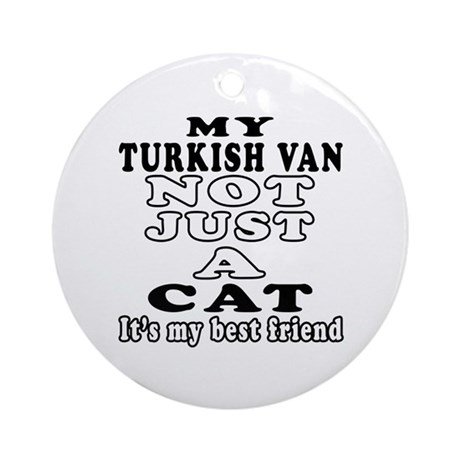 Turkish Van Cat Designs Ornament (Round)