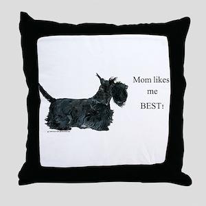 Mom's Scottish Terrier Throw Pillow