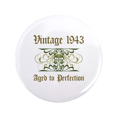 "1943 Vintage Birthday (Old English) 3.5"" Button"