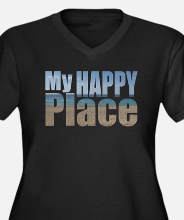 My Happy Place....the beach Plus Size T-Shirt