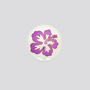 Surf Flowers (Purple and Red) Mini Button