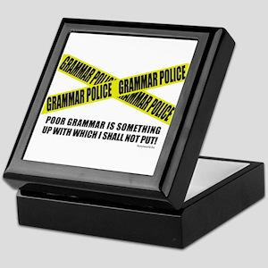 Grammar Police (2) Keepsake Box