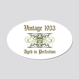 1933 Vintage Birthday (Old English) 20x12 Oval Wal