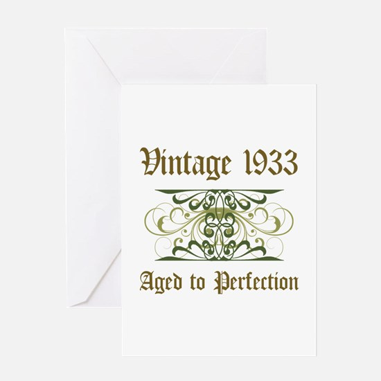 1933 Vintage Birthday (Old English) Greeting Card