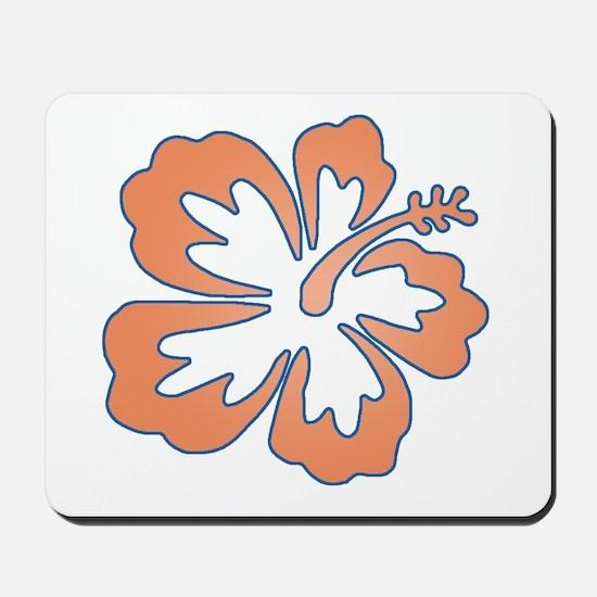 Surf Flowers (Orange and Blue) Mousepad