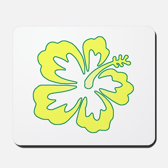 Surf Flowers (Yellow and Green) Mousepad