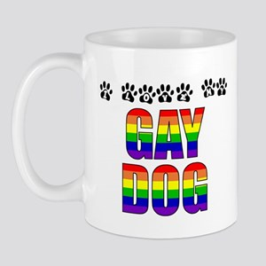 I Love My Gay Dog Mug