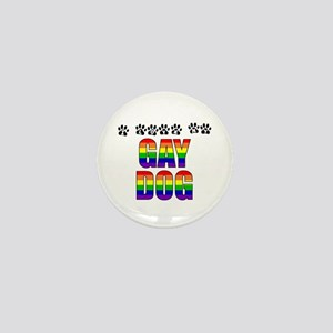 I Love My Gay Dog Mini Button