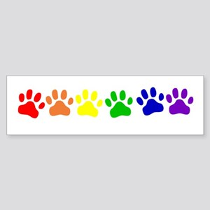 Rainbow Paws Bumper Sticker