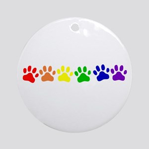Rainbow Paws Ornament (Round)
