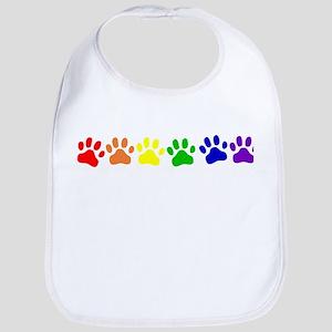 Rainbow Paws Bib