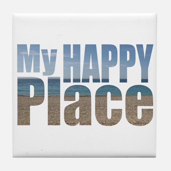 My Happy Place....the beach Tile Coaster