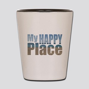 My Happy Place....the beach Shot Glass