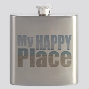 My Happy Place....the beach Flask