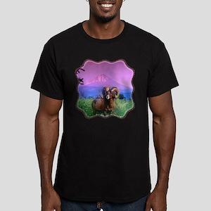 Big Horn Mount McLoughlin Men's Fitted T-Shirt (da