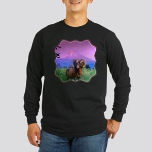 Big Horn Mount McLoughlin Long Sleeve Dark T-Shirt