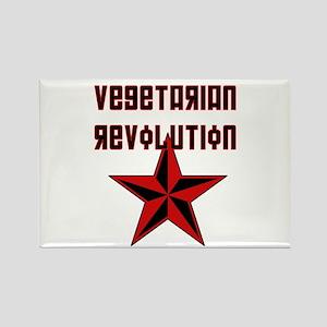 Vegetarian Revolution Rectangle Magnet