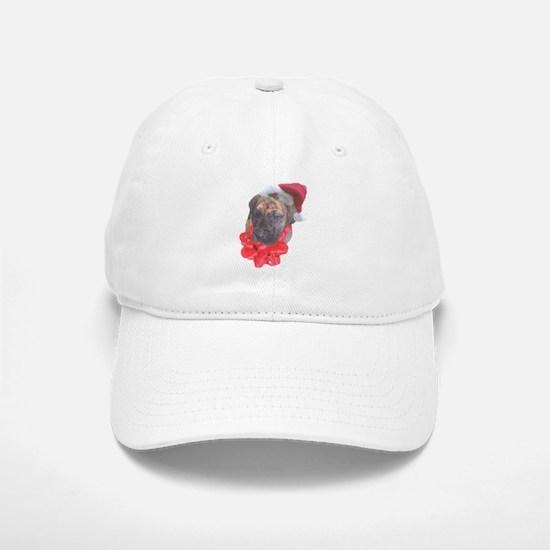 Brindle Santa Pup Baseball Baseball Cap