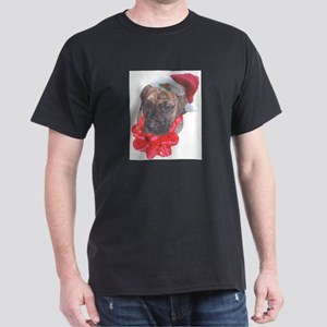 Brindle Santa Pup Dark T-Shirt