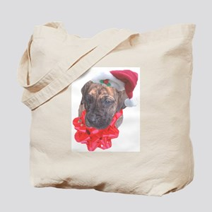 Brindle Santa Pup Tote Bag