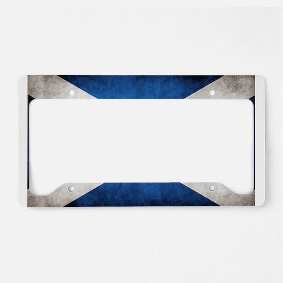 antiqued scottish flag License Plate Holder