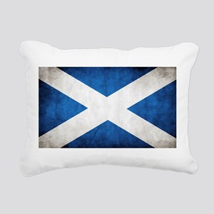 antiqued scottish flag Rectangular Canvas Pillow