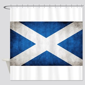 antiqued scottish flag Shower Curtain