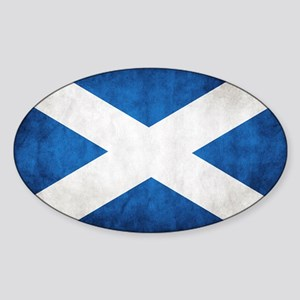 antiqued scottish flag Sticker