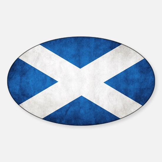 antiqued scottish flag Decal