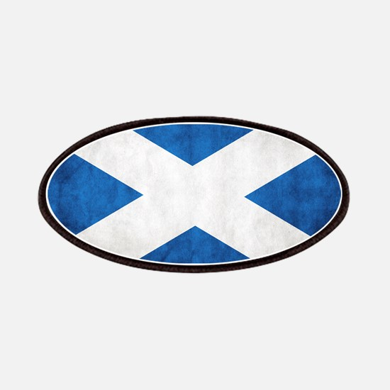antiqued scottish flag Patches