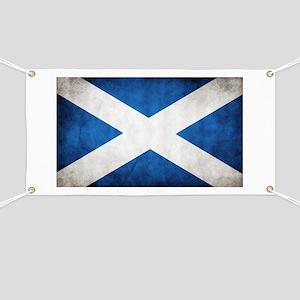 antiqued scottish flag Banner