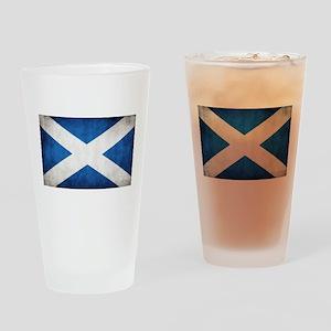 antiqued scottish flag Drinking Glass