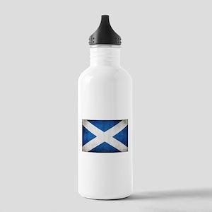 antiqued scottish flag Water Bottle