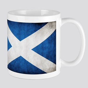 antiqued scottish flag Mugs