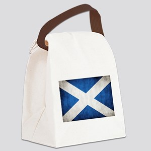 antiqued scottish flag Canvas Lunch Bag
