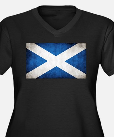 antiqued scottish flag Plus Size T-Shirt