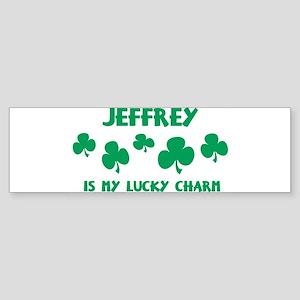 Jeffrey is my lucky charm Bumper Sticker