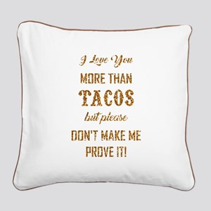 TACOS Square Canvas Pillow